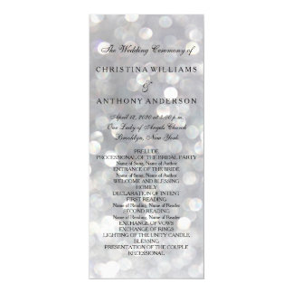 """Luces de plata elegantes de Bokeh del programa del Invitación 4"""" X 9.25"""""""