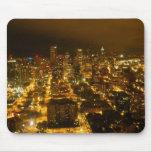 Luces de Seattle Alfombrilla De Ratón
