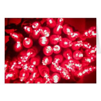 luces del arándano tarjeta de felicitación