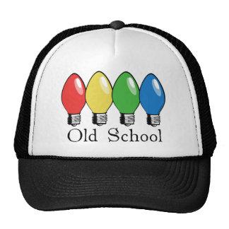 Luces del árbol de navidad de la escuela vieja gorras de camionero