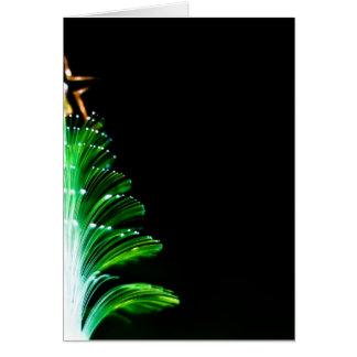 Luces del árbol de navidad tarjeta de felicitación