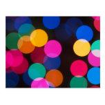 Luces del árbol de navidad tarjeta postal
