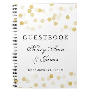 Luces del brillo de la hoja de oro del Guestbook Note Book