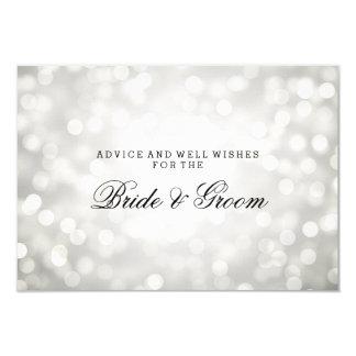 """Luces del brillo de la plata de la tarjeta del invitación 3.5"""" x 5"""""""