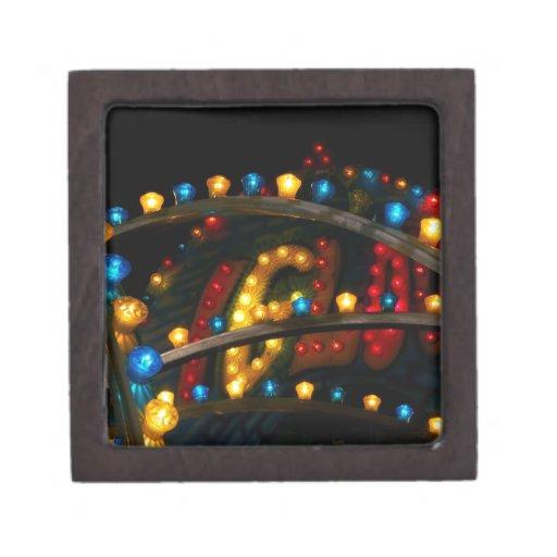 Luces del carnaval caja de joyas de calidad