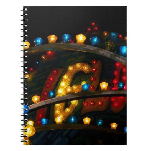 Luces del carnaval libreta espiral