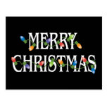 Luces del día de fiesta de las Felices Navidad Postal