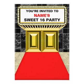Luces del dulce 16 de la carpa de Broadway - perso Invitación