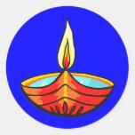 Luces del festival de Diwali Pegatina Redonda