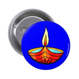 Luces del festival de Diwali Pin Redondo 5 Cm