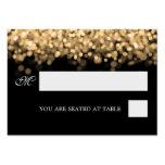Luces del oro de Placecards del boda Tarjetas De Visita Grandes