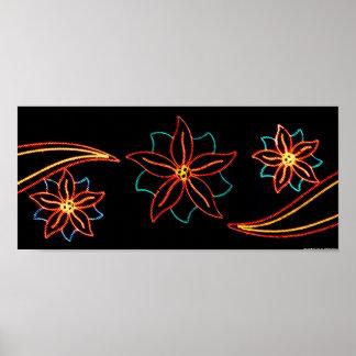 Luces del Poinsettia Poster