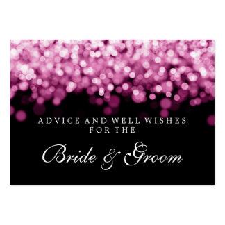 Luces del rosa de la tarjeta del consejo del boda tarjetas de visita grandes