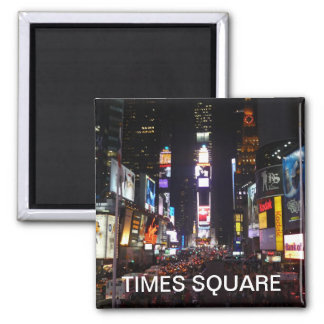 luces del Times Square Imán Cuadrado