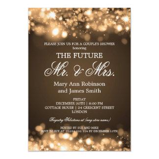 """Luces elegantes de la chispa de Sr. señora Couples Invitación 5"""" X 7"""""""