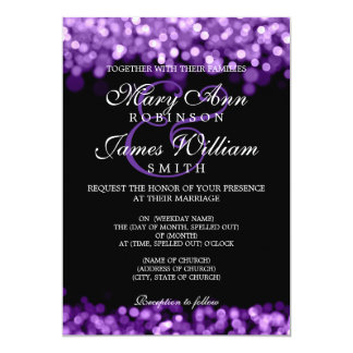 Luces elegantes de la púrpura del boda comunicados