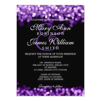 """Luces elegantes de la púrpura del boda invitación 6.5"""" x 8.75"""""""