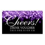 Luces elegantes de la púrpura del vale de la bebid plantilla de tarjeta personal