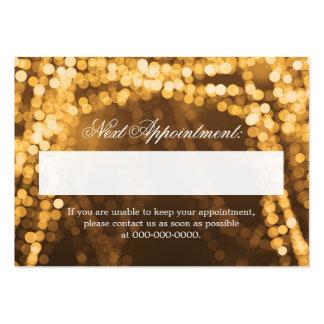 Luces elegantes de la secuencia del oro de la plantilla de tarjeta de visita