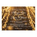 Luces elegantes de la secuencia del oro del boda comunicados personalizados