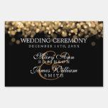 Luces elegantes del oro del boda
