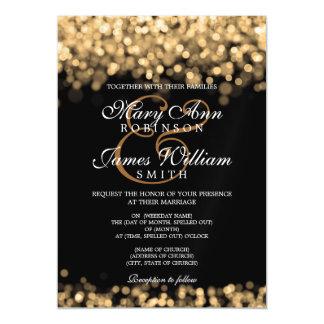 Luces elegantes del oro del boda invitaciones magnéticas