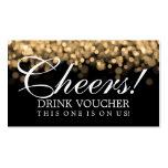 Luces elegantes del oro del vale de la bebida plantillas de tarjeta de negocio