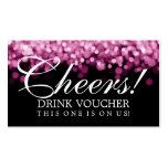 Luces elegantes del rosa del vale de la bebida tarjetas de visita