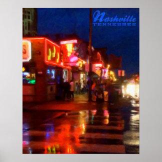 Luces en Broadway, Nashville, Tennessee - poster