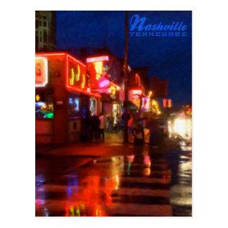 Luces en Broadways Nashville Tennessee - postal