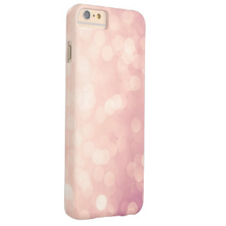 Luces en colores pastel rosadas femeninas funda de iPhone 6 plus barely there