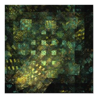 """Luces en el arte abstracto de la ciudad invitación 5.25"""" x 5.25"""""""