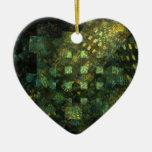 Luces en el ornamento del corazón del arte adorno para reyes
