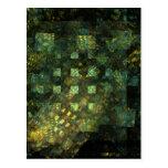 Luces en la postal del arte abstracto de la ciudad