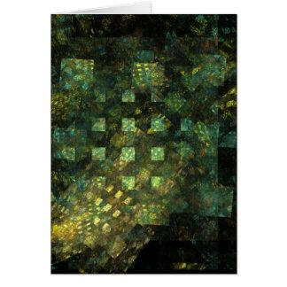 Luces en la tarjeta de felicitación del arte abstr