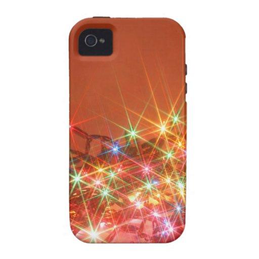 Luces estacionales que brillan Case-Mate iPhone 4 carcasas