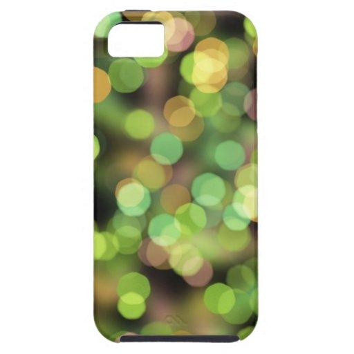 Luces festivas del verde y del rosa iPhone 5 Case-Mate fundas