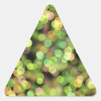 Luces festivas del verde y del rosa colcomanias trianguladas personalizadas