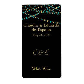Luces festivas - turquesa/aguamarina + Oro Etiqueta De Envío