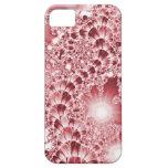 Luces florales de la vid del fractal rosado iPhone 5 Case-Mate protector