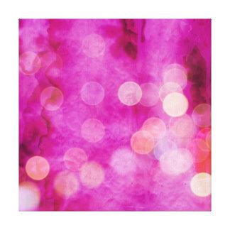 Luces fucsias apenadas de Bokeh de las rosas Impresión En Tela