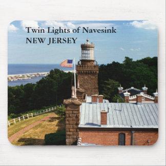Luces gemelas de Navesink, New Jersey Mousepad