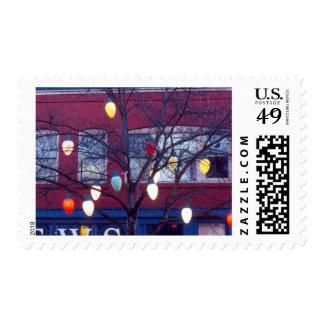 Luces gigantes del árbol de navidad en Seattle Timbres Postales