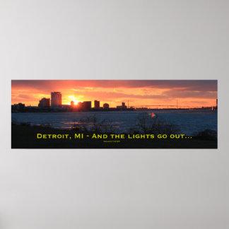 Luces hacia fuera en Detroit Poster