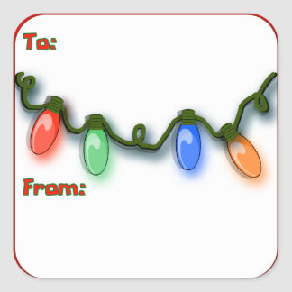 Luces italianas coloridas festivas del día de pegatina cuadrada
