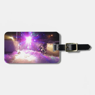 Luces laser de la espuma etiqueta para maleta