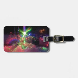 Luces laser de la espuma etiqueta de maleta