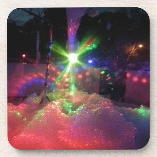 Luces laser de la espuma posavaso