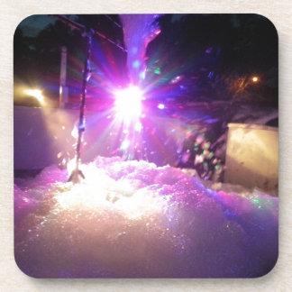 Luces laser de la espuma posavasos de bebidas