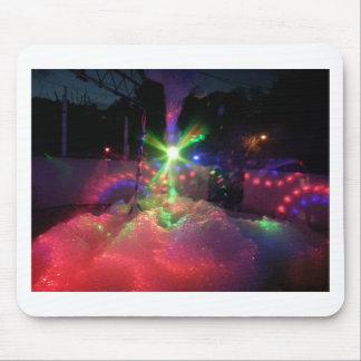Luces laser de la espuma alfombrilla de raton